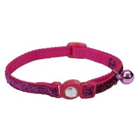 "Safe Cat Breakaway Safety Collar 3/8""x 8-12"" Jewel Pink"