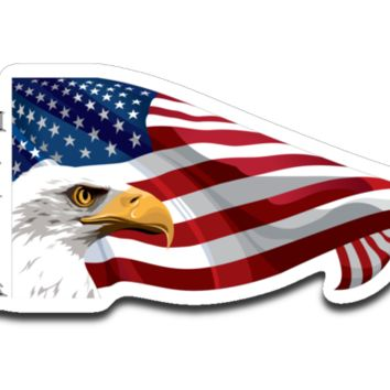 Merica American Flag With Eagle Sticker Decal