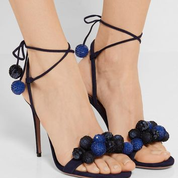 Sequins Ball Crystal Lace Up Sandals