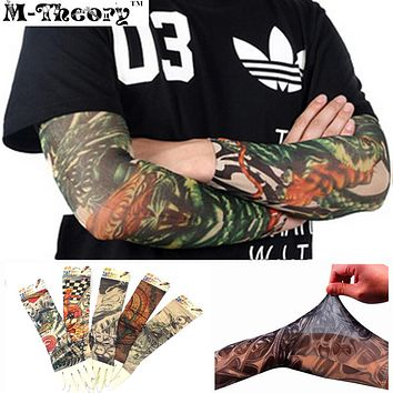 3D Tattoos Arm Sleeve Elastic Stockings Leggings Temporary Tatuagem Body Makeup 3d Henna Tatto Flash Tatoos Body Arts