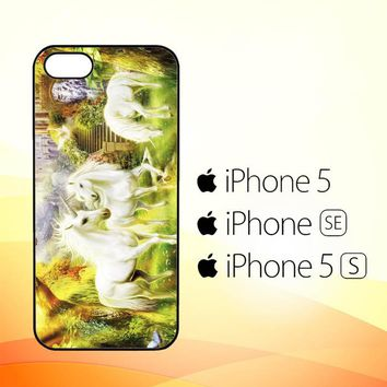 Horse Unicorn WALLPAPER Y0107  iPhone 5|5S|SE Case
