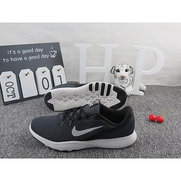 ... quite nice e56cd 3cc66 Nike Flex Trainer TR 7 Black White Running Shoes  ... d14cb4008d