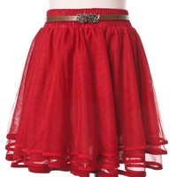 Delicacy Triple Layers Tutu in Red Red