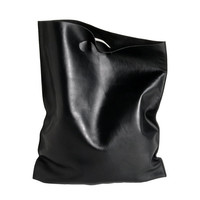 fluo bag black, shoppingbag made of soft calf leather