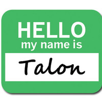 Talon Hello My Name Is Mouse Pad