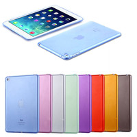 Fashion Candy Back Cover Shell For iPad Mini 4 Ultra Thin Slim Case For Apple iPad Mini4 Cases Soft Silicon Clear Transparent