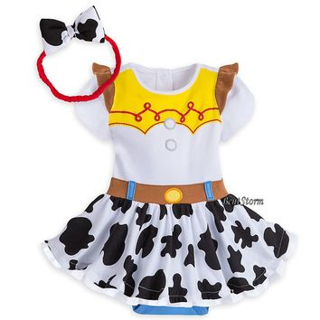 Licensed cool Disney Store Toy Story Jessie Baby Costume & Headband 9-12 12-18 18-24 Month NWT