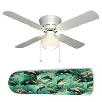 "Fish Fishing Dad's Den 42"" Ceiling Fan and Lamp"