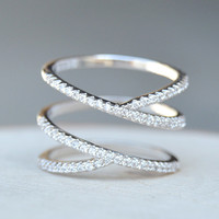 Twisted X Ring - Silver