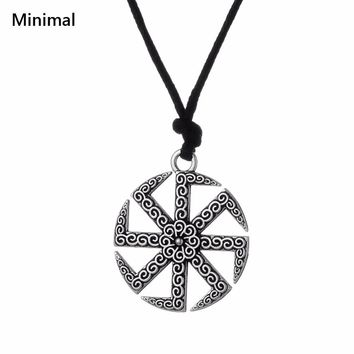Minimal Viking Pendant &Necklace Vintage Antique Slavic Necklace Pendants  Slavic Pendant Russian Sun Talisman Wicca Jewelry
