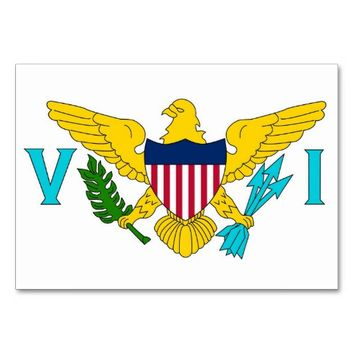 Patriotic table card with Flag of Virgin Islands