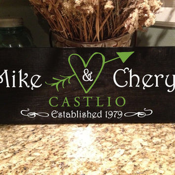 Personalized Family Sign, Established Sign, Wall Art, Wood Sign, Marriage Sign, Newlywed Sign By VitalBridalKeepsakes on Etsy!
