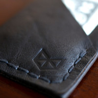 Weekend Wallet | Mens Black Leather Hand Stitched Minimal Slim