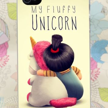 Agnes Fluffy Unicorn Despicable Me Hard Case Cover For iPhone Samsung Huawie New