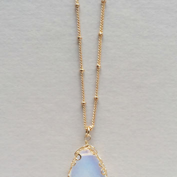 Soft Clouds Pendant Necklace