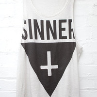 Sinner cross tank top