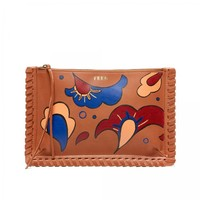 Hand-Painted Rosa Clutch