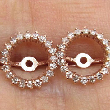 Rose Gold Earring Jackets