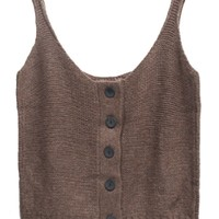 All-Matching Buttoned Sweater Tank - OASAP.com