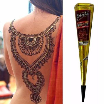 ac DCCKO2Q New Arrival Mini Natural Indian Tattoo Henna Paste For Body Drawing 25gram Black Henna New Arrival