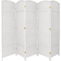 6' Tall Diamond Weave Fiber Room Divider - Walmart.com