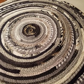 5' Colorful Round Rug, Handmade to Order YOU Choose Colors! Gypsy Boho Bohemian Upcycled