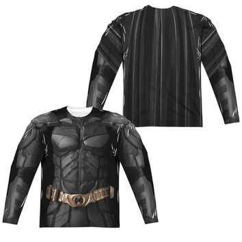 Batman Dark Knight Movie Sublimated Mens Long Sleeve Costume T-Shirt