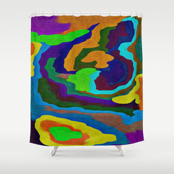 COLOR MADNESS Shower Curtain by Robleedesigns