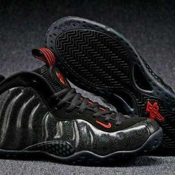 DCCKL8A Jacklish Nike Air Foamposite One Gold Speckle Black-red Sale