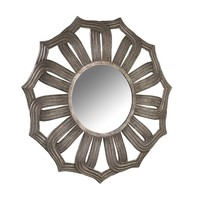 Bombay Company Antiqued Silver Lotus Mirror | Overstock.com Shopping - The Best Deals on Mirrors