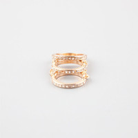 Full Tilt 3 Piece Chained Rings Gold  In Sizes
