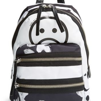 MARC BY MARC JACOBS 'Domo Arigato - Mini Packrat' Unsmiley Print Backpack - White