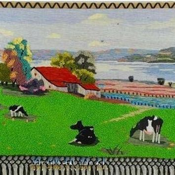 ESBU3C Handmade art tapestry tapestry wall mural classic ranch living room decoration paintings special offer