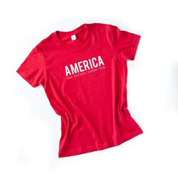 America One Nation Under God Kid Tee