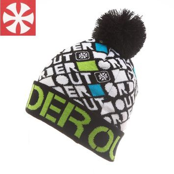 2017 Winter Plaid Skating Hats Men Women SNSUSK Brand New Knitted Wool Warm Lovers Ball Beanies Bonnet Snowboard Hiphop Cap