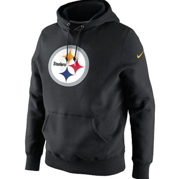 Nike Men's Pittsburgh Steelers Classic Logo Hooded PO Sweatshirt