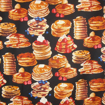Stacks of Pancakes Print Pure COtton Fabric from Timeless Treasures--One Yard