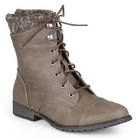 Madden Girl by Steve Madden Womens Lace-up Detail Booties Grey 7 M US