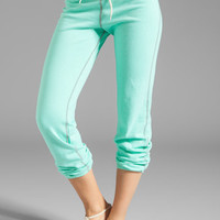 Monrow Vintage Sweatpants in Neon Mint from REVOLVEclothing.com