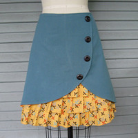 What's Up Buttercup ruffle front skirt Sz 12 by LoveToLoveYou