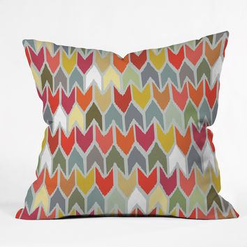 Sharon Turner Beach House Ikat Chevron Throw Pillow