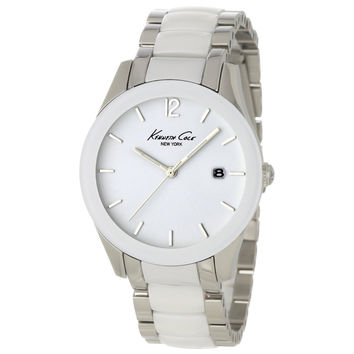Kenneth Cole KC4761 Womens New York White Dial Ceramic and Steel Bracelet Watch