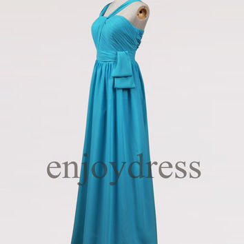 Custom Ice Blue Long Bridesmaid Dresses 2014 Prom Dresses Evening dresses Party Dresses Wedding Party Dresses Homecoming Dresses