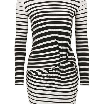 Stripe Knot Mini Dress | Topshop
