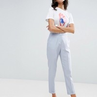 ASOS Linen Cigarette Trousers at asos.com