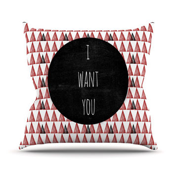 "Skye Zambrana ""I Want You"" Throw Pillow"