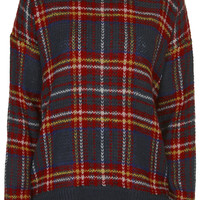 Highland Check Jumper - Topshop