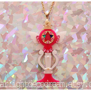 SALE Holy Moon Cálice Sailor Moon Inspired Acrylic and Jeweled Necklace for Mahou Kei & Magical Girl Fashion