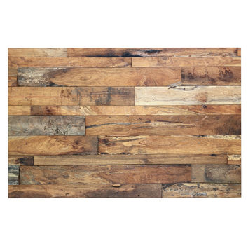 "Susan Sanders ""Campfire Wood"" Rustic Decorative Door Mat"