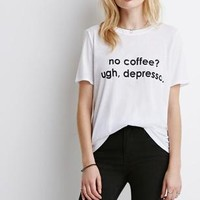Forever 21 Animals and Coffee Graphic Tee